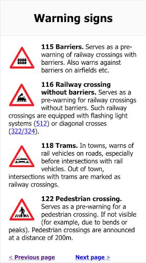 Swiss Traffic Signs ApkUpdate 2
