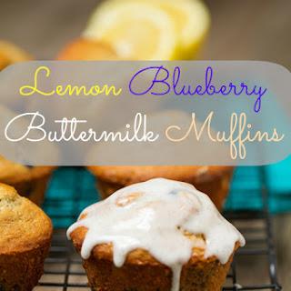 Lemon Blueberry Buttermilk Muffins