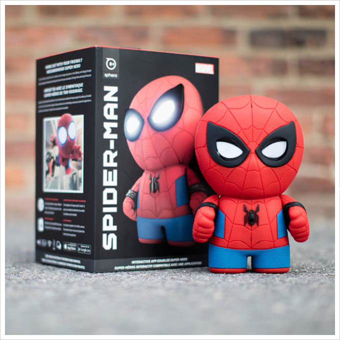 SpiderMan漫威英雄蜘蛛人智能公仔