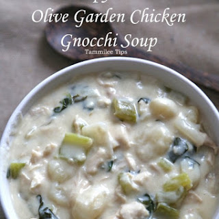 Copy Cat Olive Garden Chicken Gnocchi Soup