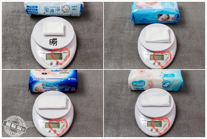 濕紙巾濕度重量評比