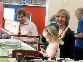 """Photo: 021 Garreg Wen is very much a family layout and here is the whole family enjoying the day – Matthew and Helen with """"the boss"""" Lucy ."""