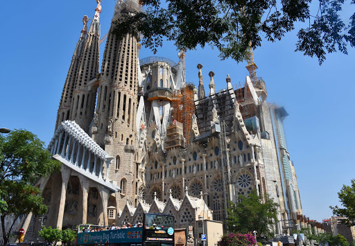 Sagrada-Familia-2.jpg - Gaudi's famed Sagrada Familia Cathedral of Barcelona, a classic example of gothic architecture.