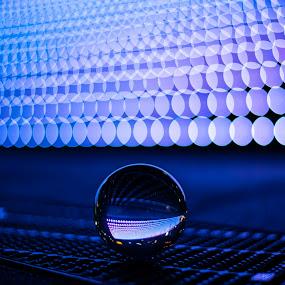 by Oemar Patex - Artistic Objects Glass ( art, reflection, city, depth of field, bokeh, blur )