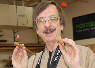 "Photo: Gary Guenther shows off the inset cabochons in the ends of his ""Harry Potter"" magic wands."