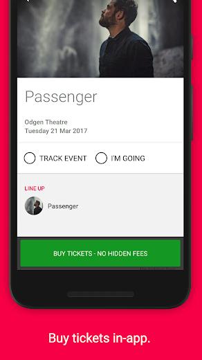 Screenshot 4 for Songkick's Android app'