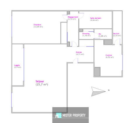 Vente appartement 3 pièces 63,19 m2