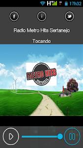 Rádio Metro Hits Sertanejo screenshot 1