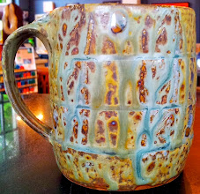 Photo: Mug (4 in this glaze), Fiddlehead at Four Corners, 338 Main Street, Bennington, Vermont (802) 447-1000 www.getartbehappy.com