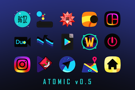 ATOMIC - Dark Retro Future Icons Screenshot