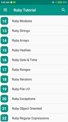 Ruby Tutorial 1.4 screenshots 2