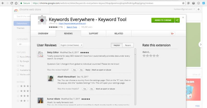 Keywords Everywhere Keyword Tool - Chrome WebStore