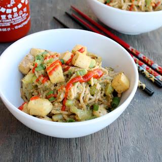 Peanut Butter Sriracha Noodles