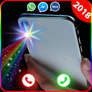 فلاش اللون على المكالمات والرسائل القصيرة: شاشة APK