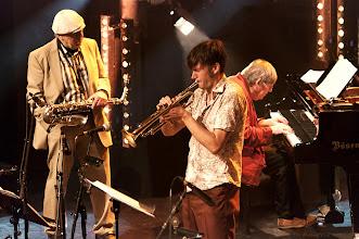 Photo: Jiri Stivin/ Matthias Schriefel/ Rob van den Broeck - European Jazz Ensemble - 25. Intern. Jazzfestival Viersen 2011 - Festhalle Bühne 1