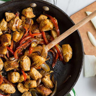 Chicken and Bell Pepper Saute.