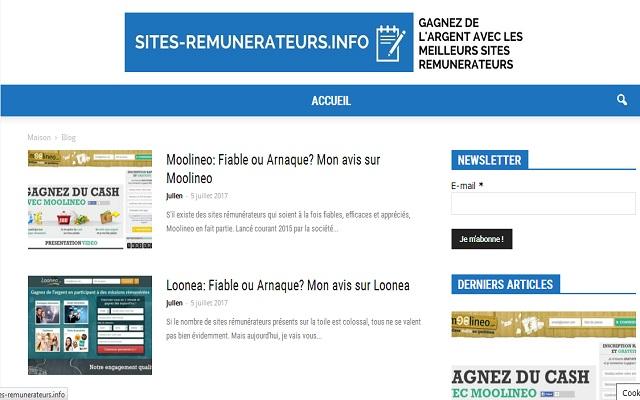 Sites-Remunerateurs.info: Gagnez de l'argent