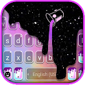 Galaxy Color Drip Keyboard Background icon