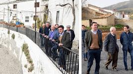 Presidente y diputados en su visita a Senés y a Chercos.