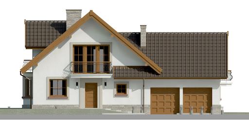 Dom przy Cyprysowej 15 P - Elewacja przednia