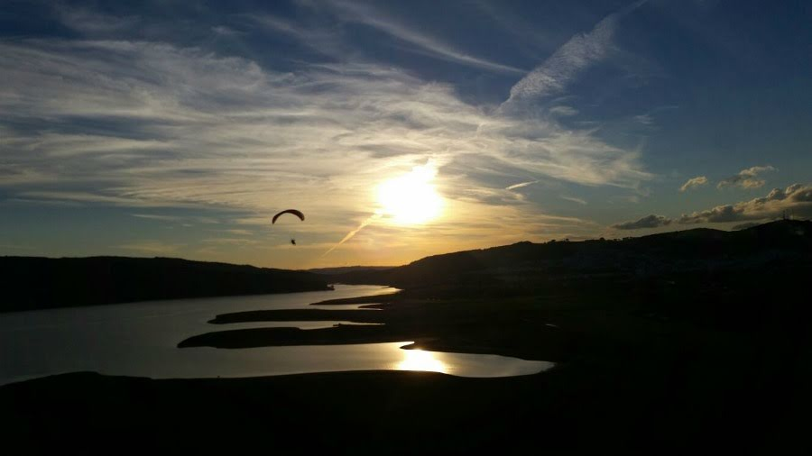 BBC adventurer Ben Fogle learns to fly paramotors at FlySpain