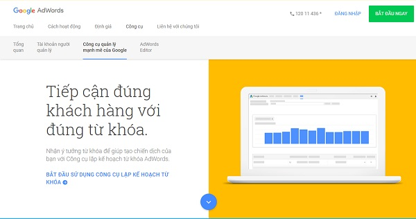 Công cụ Google Adwords Keyword Tool