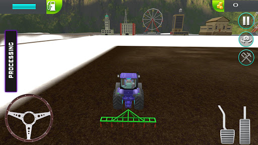 Bleu Tractor - Farming Simulator Toy 3D App Report on Mobile Action