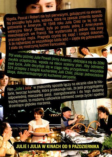 Tył ulotki filmu 'Julie i Julia'