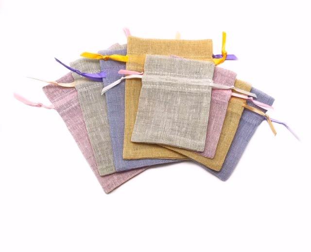 Påse, handsydd påse i flera storlekar/färger