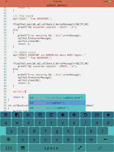 Mobile C ( C/C++ Compiler ) 2.4.2 screenshots 7