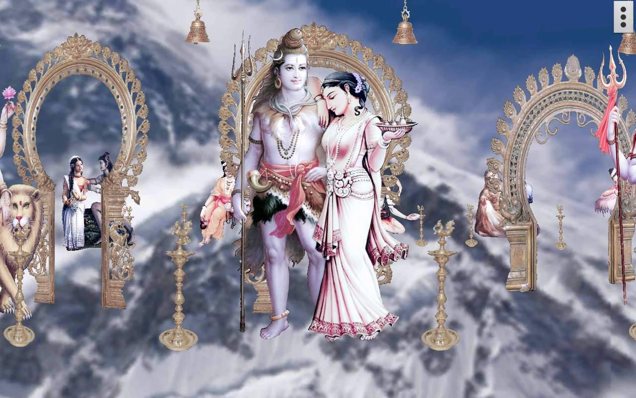 4d Shiv Parvati Live Wallpaper Android Apps On Google Play