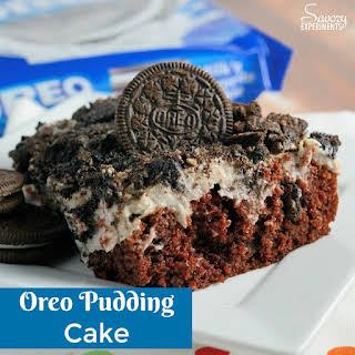 Oreo Pudding Cake.