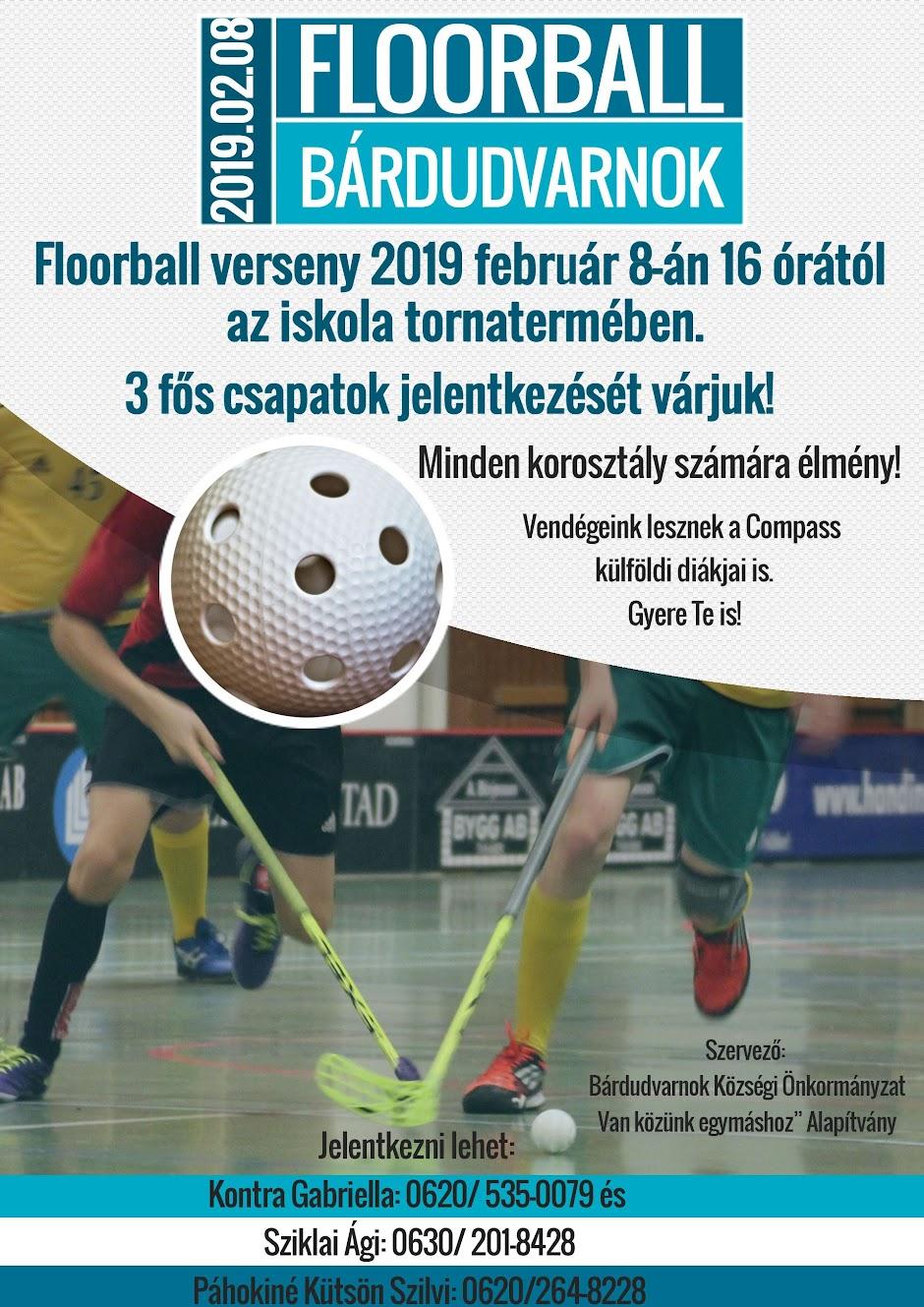 Floorball február 8-án 16 órától