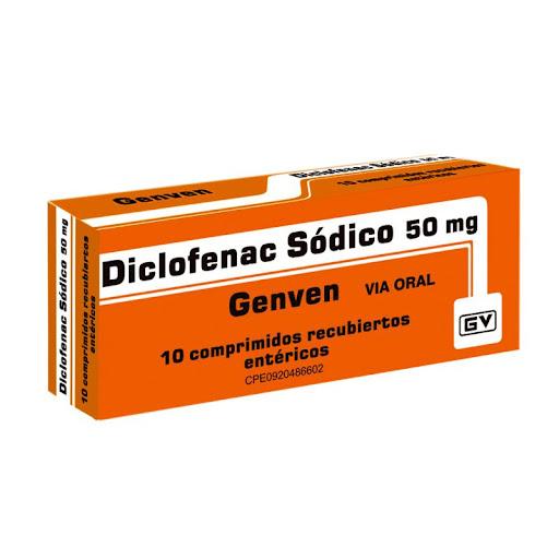 Diclofenac Sodico 50Mg 10Comprimidos Genven