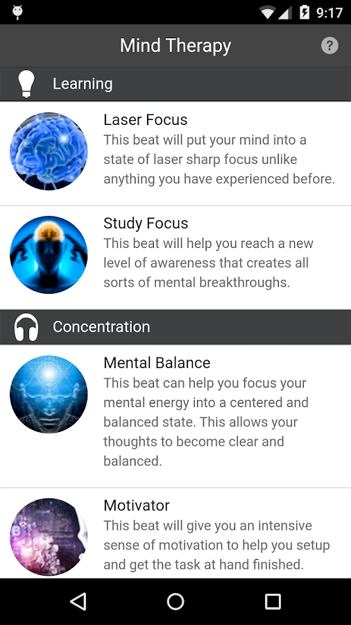 Mind Therapy - Binaural Beats- screenshot