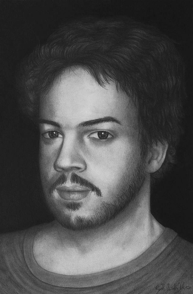 Photo: Autoritratto pencil drawing  Author: Gaston Nicolas Alanis