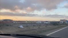 Imagen de la zona del accidente captada por el copiloto de un vehículo que circulaba por el carril contrario.