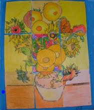 """Photo: Composición Grupal Van Gogh """"Los Girasoles"""" 5ºC"""