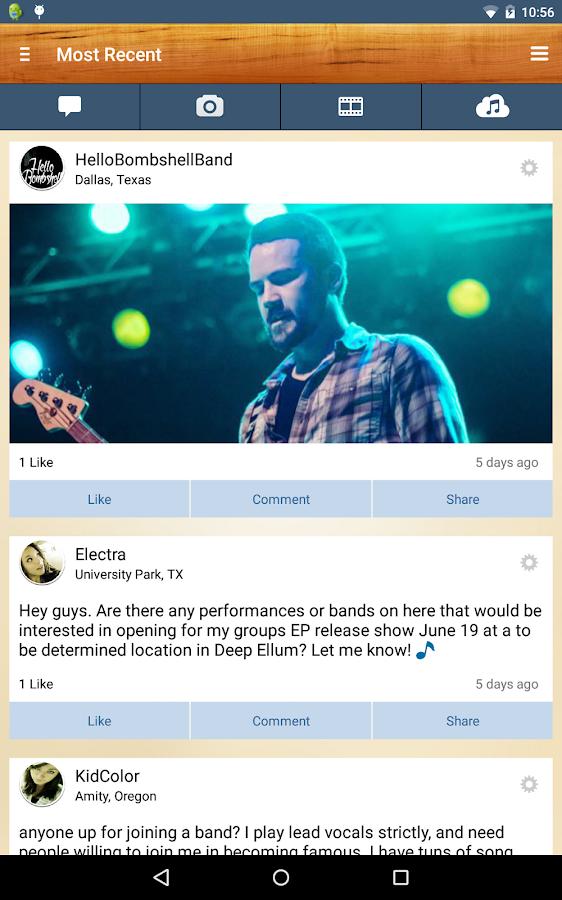 BandFriend - Musicians Network- screenshot