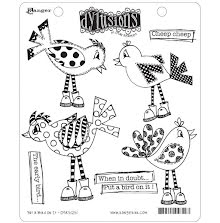 Dylusions Cling Stamps 8.5X7 - Put A Bird On It