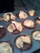 Photo: So I forgot to marble the topping, and they look a little weird. Yummy, though.