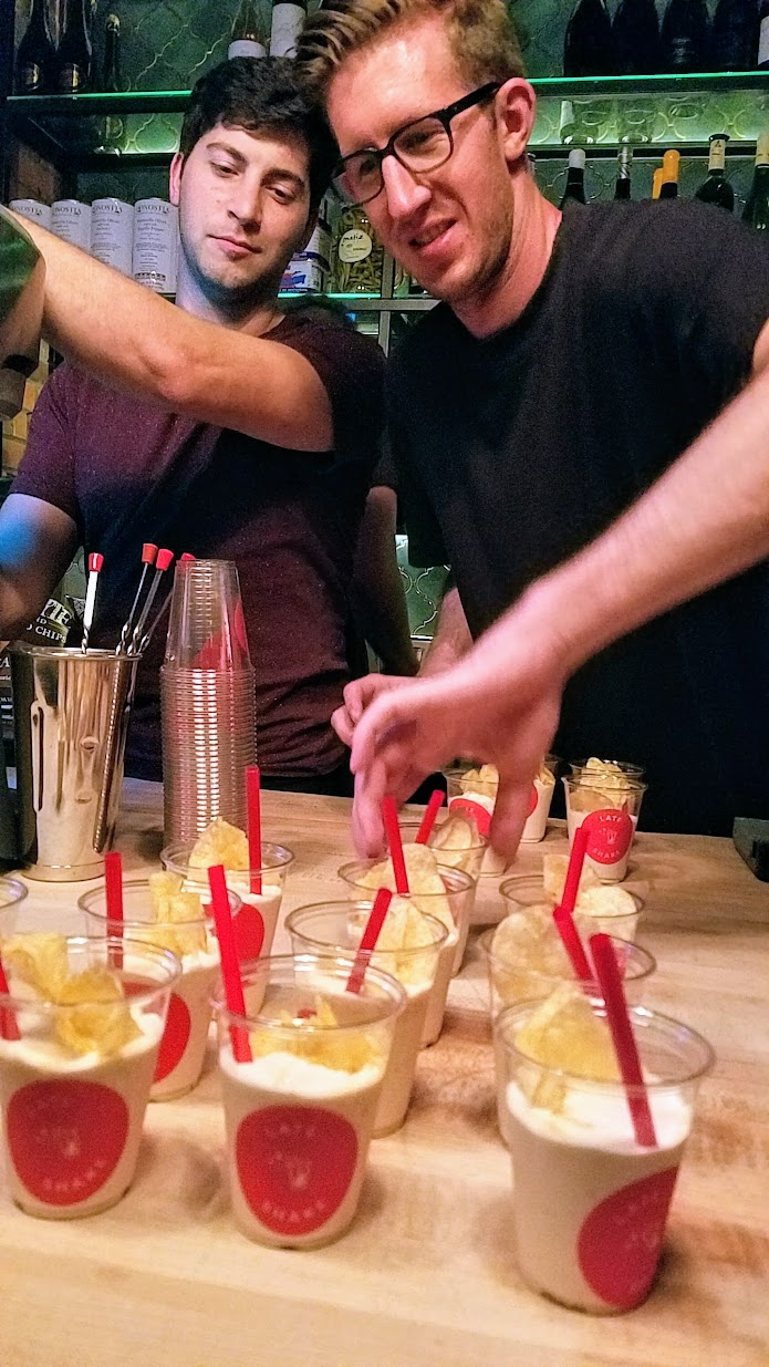 My Highlights of Feast 2017 - Portland Monthly's Ham and Eggs Party at Bar Casa Vale with 1980s excess, Sweet Potato Pie shake made with sweet potatoes oven-roasted in brown sugar, cardamom, and cinnamon, and topped with Kettle chips and Bee Local Hot Honey by Late Shake