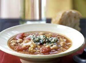 Fireman Bob's Spicy Garbanzo Bean Soup