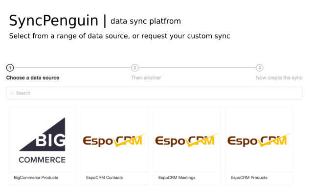 Sync CRM, ERP, eCommerce data - SyncPenguin