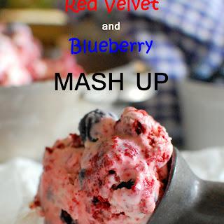 Red Velvet and Blueberry Ice Cream Mash Up