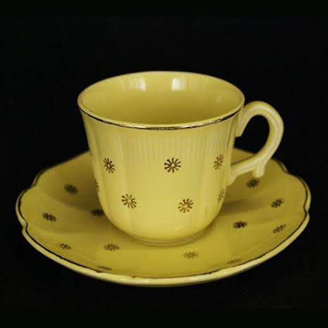 Neapel Kaffekopp med fat