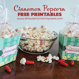 Cinnamon Popcorn with FREE Printables
