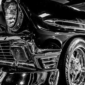 Black and Chrome by Andrew Brinkman - Transportation Automobiles ( car, vintage, automobile, hot rod, chevy )