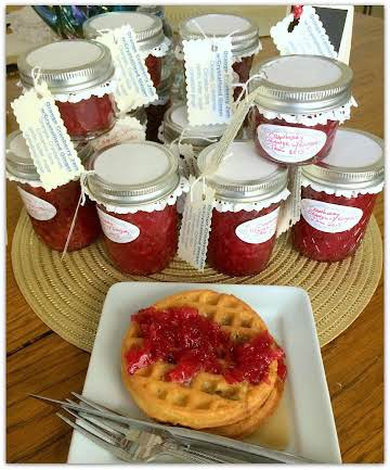 Cranberry Orange Jam with Crystallized Ginger