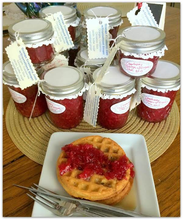 Cranberry Orange Jam With Crystallized Ginger